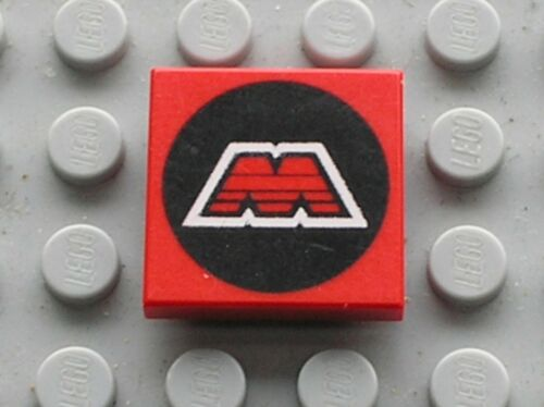 LEGO Espace space Tile with MTron Logo Ref 3068bp68 Set 6862 6956 6923 6989 5154