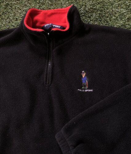 Vintage Polo Sport 90s Fleece Pullover Polo Bear R