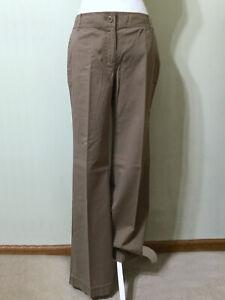 LOFT-Signature-Chinos-Pants-Size-4-Women-039-s-Marisa-Fit-Lightweight-Brown-Cotton