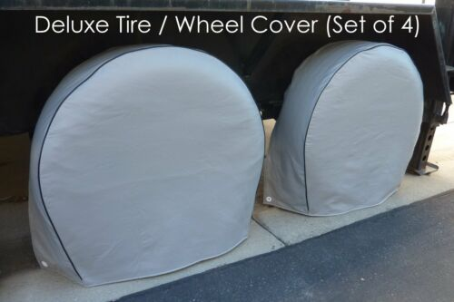 "Tire Wheel Cover fits 30.5/""-33.5/"" tires for RV Trailers Truck Van SUV Set of 4"