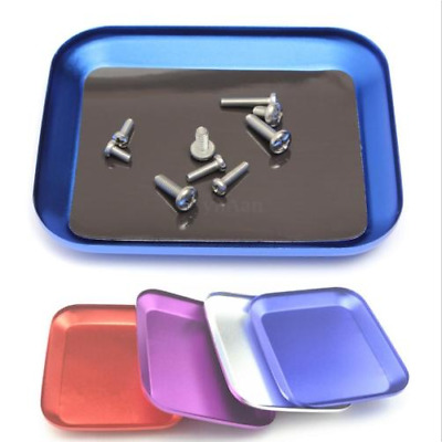 Aluminum Alloy Magnetic Screw Tray Pad Holder for RC Model Phone RC Tools Blue