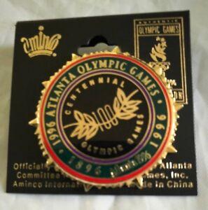 1996 Broche Atlanta Olympiques 100 Years Aminco Badge sur Carte Neuf ywIFOHw7-07164020-917335866
