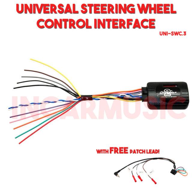 Universal Car Steering Wheel Control Interface Adaptor + Free Multi Patch Lead