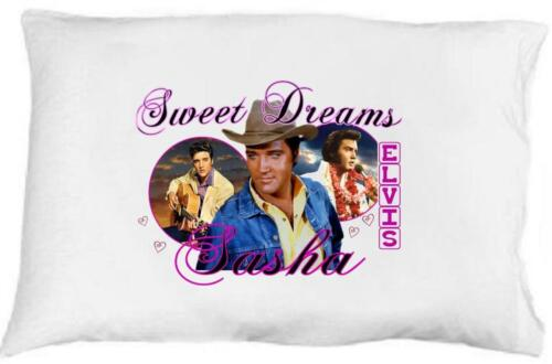 """ELVIS PRESLEY Personalized PILLOWCASE #4 /""""Sweet Dreams/"""" Any NAME Super Soft"""