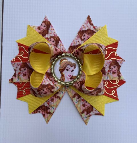 Handmade Belle //Beauty And The Beast Stacked Boutique Hair Bow