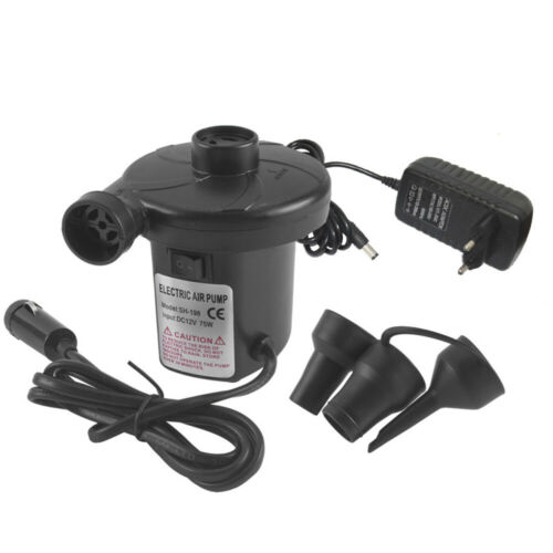 Electric Air Pump Inflator Deflate 3 Nozzles for Air Bed Mattress Boat 110//12V