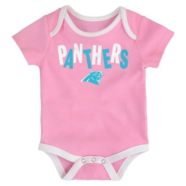 meet ad196 4179d Infant Newborn Baby Girl's NFL Carolina Panthers Bodysuit Creeper 24m 24  Months