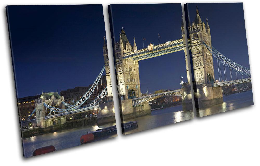 London Tower Bridge City TREBLE Leinwand Wand Kunst Bild drucken