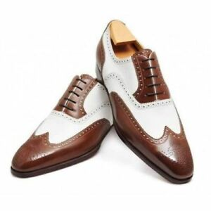 c88f15d78d4 Image is loading Elegant-Oxford-Brogue-amp-Derby-trendy-Leather-Handmade-