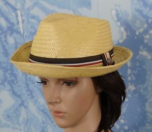 89d30d8472e Image is loading NWT-Brixton-Mens-Castor-straw-Fedora-Tan-Hat-