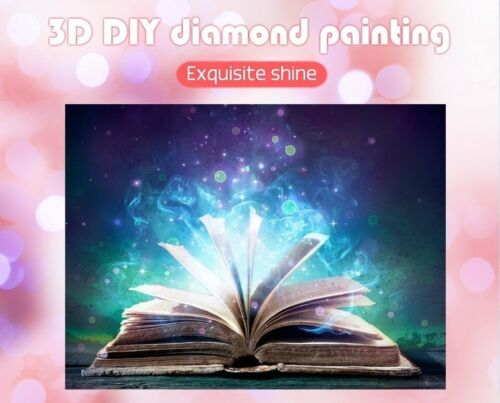 Book Embroidery Diamond Painting Design DIY House Wall Decors Full Square Drills