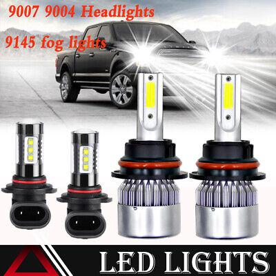 For Dodge Ram 1500 2500 3500 2003-2005 9007 LED Headlight Bulb Hi-Low Beam C6