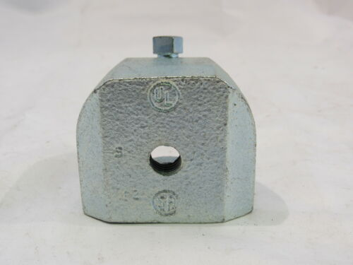 """LOT OF 7 ***NNB*** BEAM CLAMP 2-1//2/"""" BASE 3//8/"""" BOLT 1-1//4/"""" BEAM SPACE"""