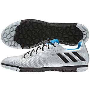 6acc84d7941 adidas 16.3 TF Messi 2016 Turf Soccer Shoes Silver - Blue - Black ...