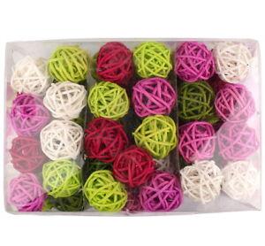 Rattankugeln-5-Farben-Mischung-034-summer-rose-034-5cm-30-Stuck