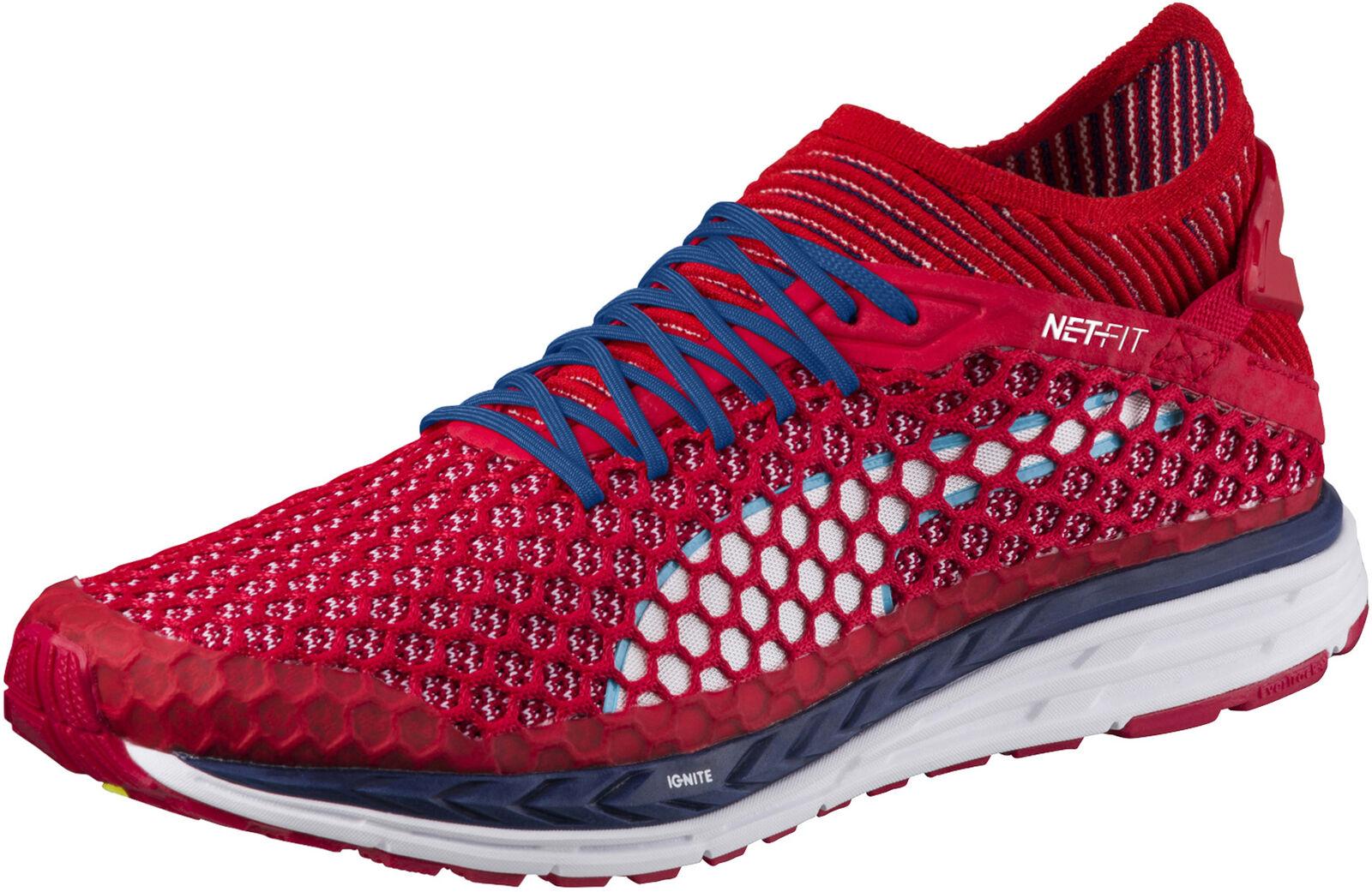 PUMA Speed Ignite netfit Uomo Running Running Running scarpe-rosso 91515b