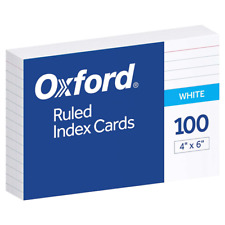 Oxford 41 4 X 6 Ruled Index Cards White 100pack 1 Pack
