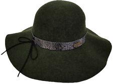 6d97ea6cc2c item 1 Womens Fall Winter 100% Wool Felt Wide Brim Floppy Fedora Large Brim  Hat Olive -Womens Fall Winter 100% Wool Felt Wide Brim Floppy Fedora Large  Brim ...