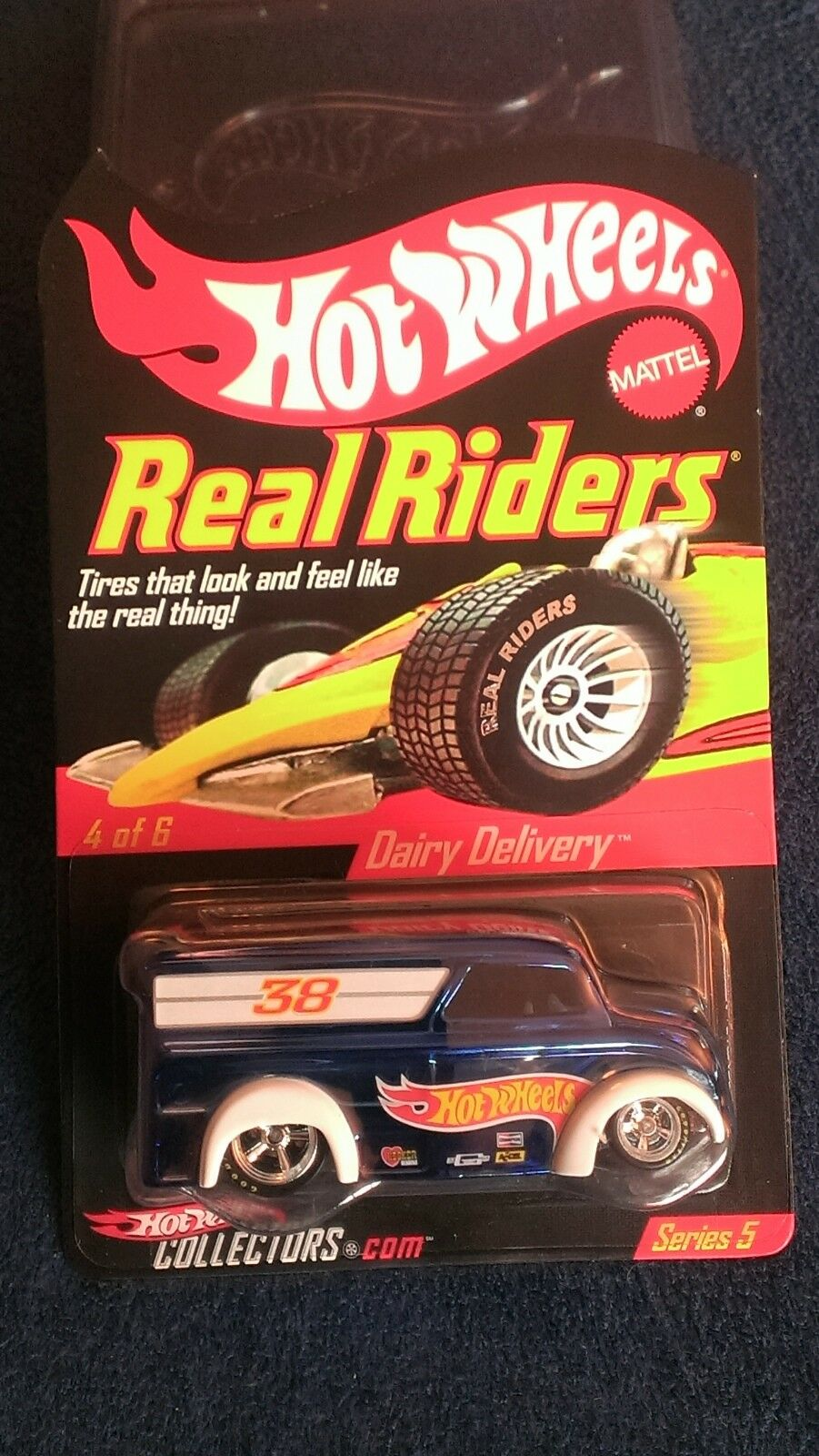 Hot Wheels  RLC Real Real Real Riders Series  Dairy Delivery. Spectra Flame bluee. MOMC. 315ee8