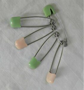 Vintage Monkey Pink Plastic Diaper Pins