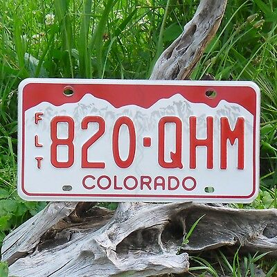 820qhm Auténtica Matrícula De Colorado Matrícula Ee.uu