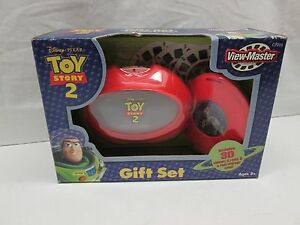 Disney Pixar Toy Story 2 View Master Gift Set 3D Viewer 3 Reels Storage Case NEW