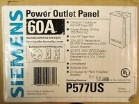 Siemens Outdoor Power Outlet Panel 3r 120/240v Ac 60 Amp P577us