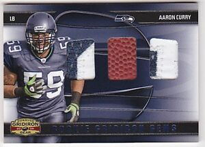AARON-CURRY-RC-2009-GRIDIRON-GEAR-GEMS-DUAL-2CLR-JERSEY-PATCH-BALL-28-50-FB2106