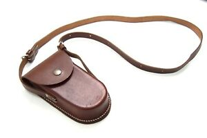 Vintage-Swiss-Army-Leather-Pouch-With-Strap-Utility-Sling-Bag-Belt-Tool-Money