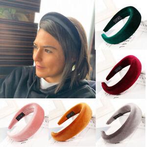 Women-039-s-Velvet-Headband-Padded-Hairband-Wide-Soft-Hair-Hoop-Bands-Accessories