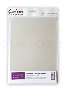 Crafter-039-s-Companion-Printable-Inkjet-Clear-Acetate-A4-100-micron-Pack-8-Sheets