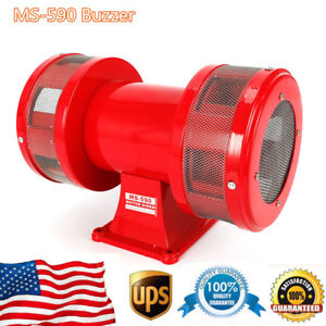 Red-Metal-Motor-Driven-Air-Raid-Siren-Double-Horn-Alarm-Two-sides-Siren-Alarms