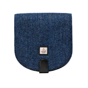 dfaa926bba7f Image is loading Maccessori-Harris-Tweed-Blue-Herringbone-Cross-Body-Bag-