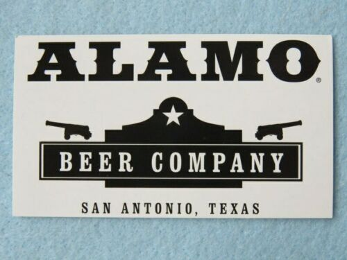 TEXAS ~ Fort /& Cannon Design Beer STICKER ~ ALAMO Beer Company ~ San Antonio