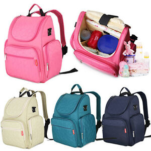 Waterproof Outdoor Baby Diaper Changing Backpack Mummy Bag Stroller Hanging Bag