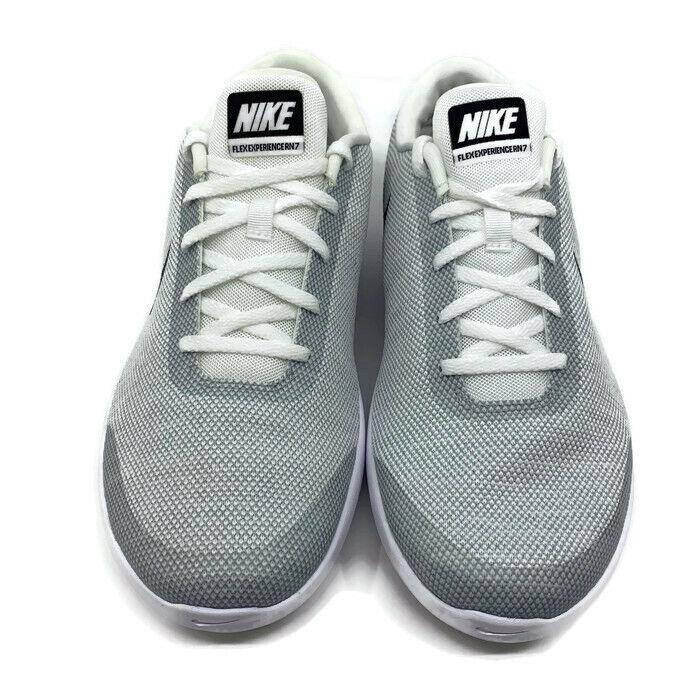Nike Flex Experience RN 7 WIDE 4E White Black-Wolf Grey