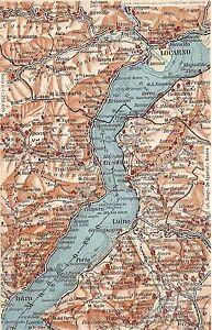 Lago Maggiore Cartina Stradale.Cartolina Postcard Lago Maggiore Cartina Geografica Mappa Ebay