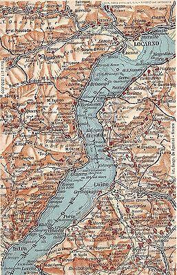 Cartina Geografica Del Lago Maggiore.Cartolina Postcard Lago Maggiore Cartina Geografica Mappa Ebay