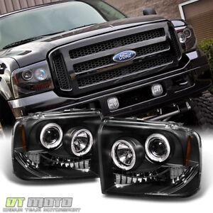 Black Ford FFF Superduty LED Halo - 2007 f350