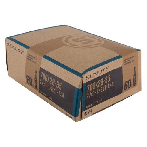 700X28-35 27X1-1//8X1-1//4 Sunlite Standard Presta Valve Tubes 60Mm - Pv