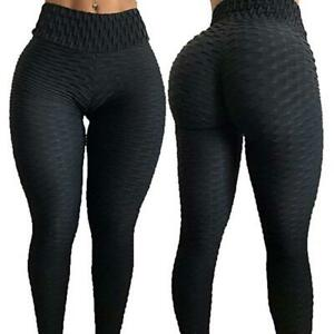 Fashion-High-Waist-Fitness-Leggings-Women-Workout-Push-Up-Trousers-Solid-Pants