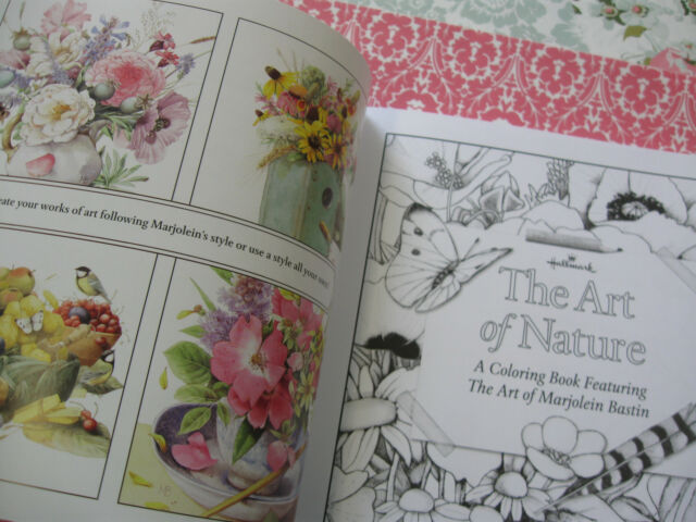 Hallmark Marjolein Bastin The Art Of Nature Sketchbook Coloring Book New