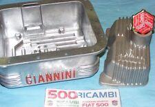 FIAT 500 F/L/R 126 COPPA OLIO MOTORE GIANNINI 3,5KG + COPERCHIO PUNTERIE + TAPPO