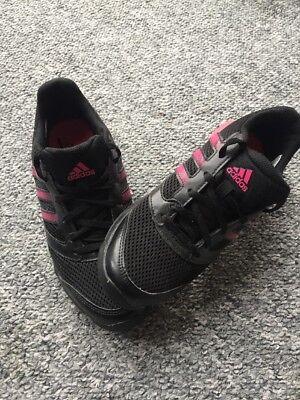 Adidas Mujer Entrenamiento Entrenadores Reino Unido 5.5 Negro/Rosa