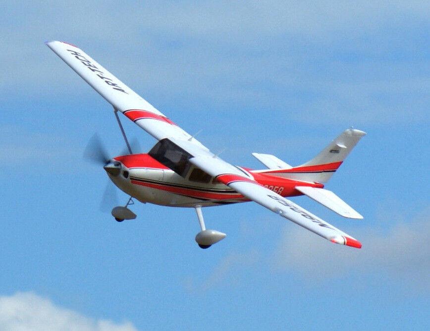 Art Tech Cessna 182 500 Rtf Listo Para Volar Trainer avión RC modelo 1.3 M Nuevo-Rojo