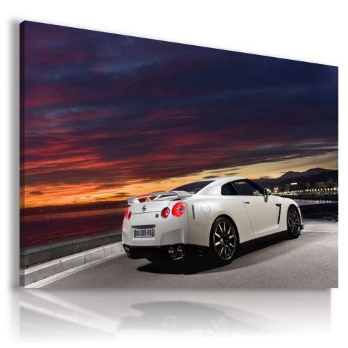 NISSAN GTR WHITE Super Sport Cars Large Wall Art Canvas Picture A202 MATAGA