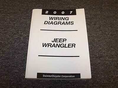 2007 Jeep Wrangler Suv Electrical Wiring Diagram Manual X Sahara Rubicon 3 8l V6 Ebay
