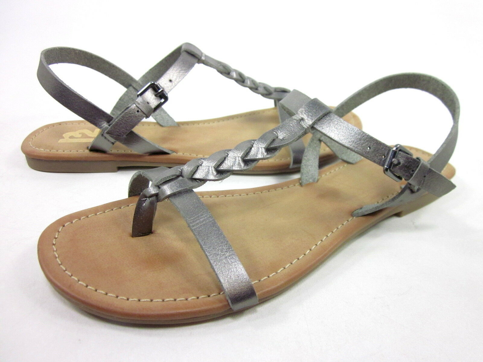 R2 FOOTWEAR WOMEN'S CAYMAN 8 T-STRAP THONG FASHION SANDALS,PEWTER,US SIZE 8 CAYMAN MEDIUM 04ebb3
