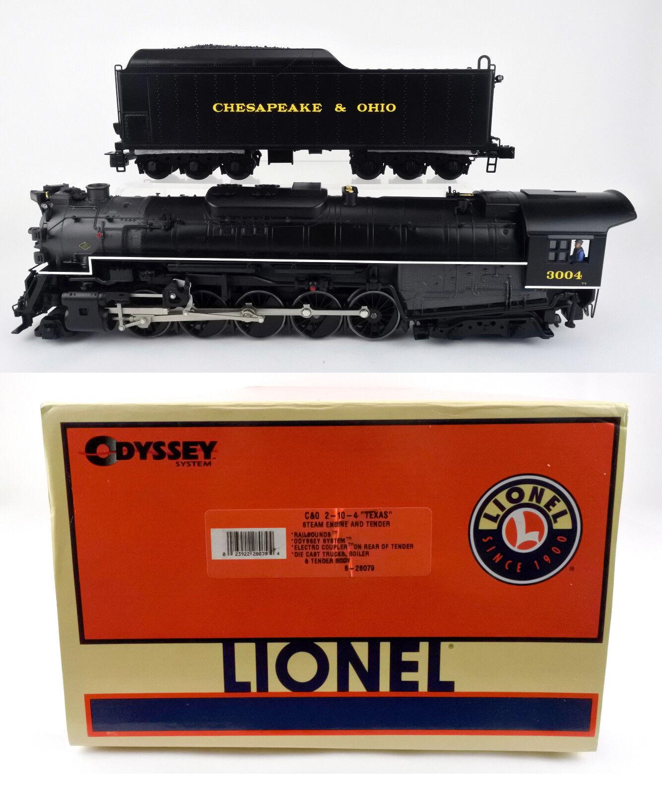LIONEL O SCALE 28079 CHESAPEAKE & OHIO T-4 2-10-4 STEAM ENGINE & TENDER