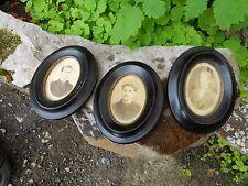 3 cadres photo ovale Napoléon III en bois Noirci , déco cinéma film théâtre...
